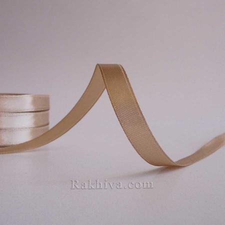 Панделка сатен - кафе лате, 1 ролка 10 мм/ 25 ярда (10/25/2336-1)