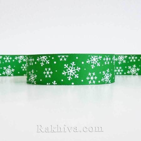Зелена снежинка Релефен сатен