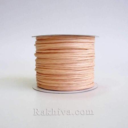 Хартиен шнур с тел , светла праскова (2/50/6148-1) (ролка 50 м)