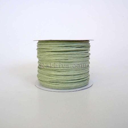 Хартиен шнур с тел, мента , (2/50/6160-2) (ролка 50м)