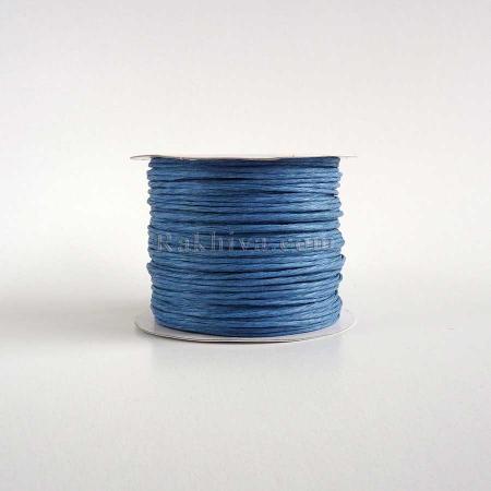 Хартиен шнур с тел, синьо , (2/50/6150) (ролка 50 м)