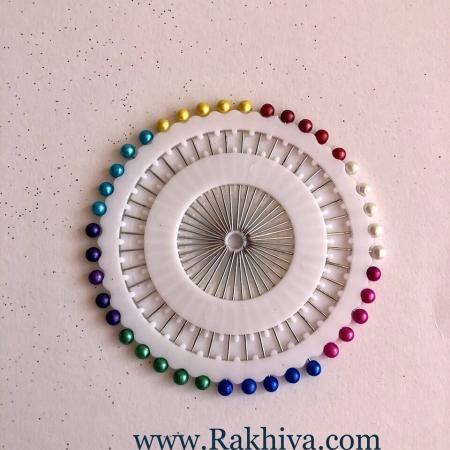 Игли с перли микс цветове, 1 диск ( 40 бр.)