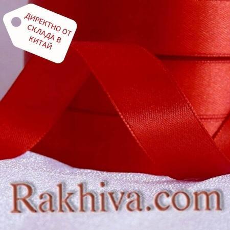 Панделка сатен червено, 6 мм/25 ярда ( 6/25/2380) > 270 броя