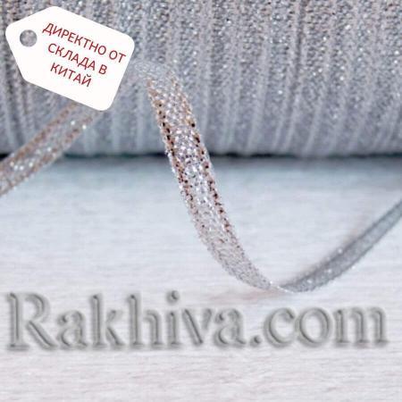 Панделка сатен сребро, 6 мм/ 25 ярда (6/25/23300) > 110 броя