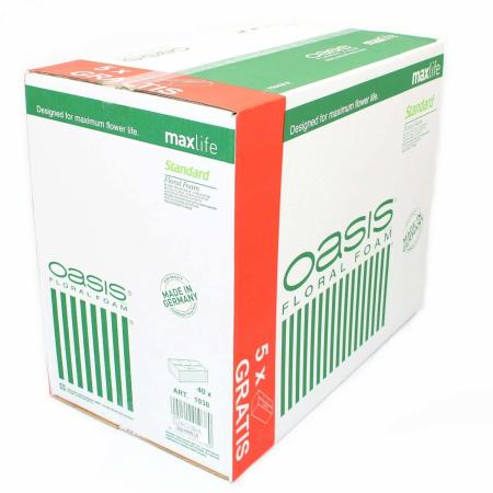 Кашон пиафлора за свежи цветя OASIS 35 броя + 5 броя подарък, кашон пиафлора 35 броя + 5 броя подарък