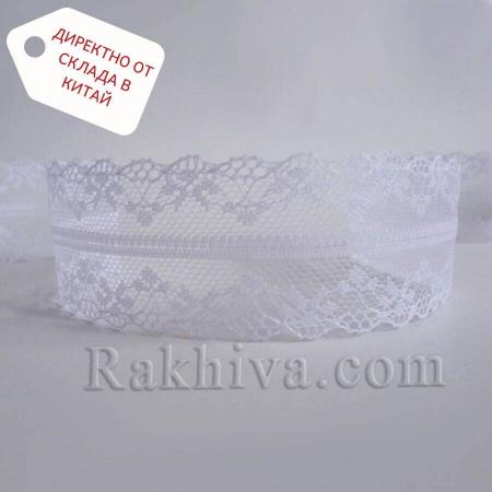 Дантела Винтидж ролка, бяло (40/300/10)