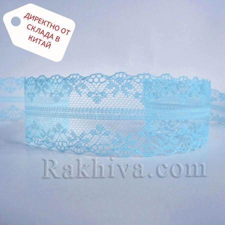 Дантела Винтидж ролка, светло синьо (40/300/51)