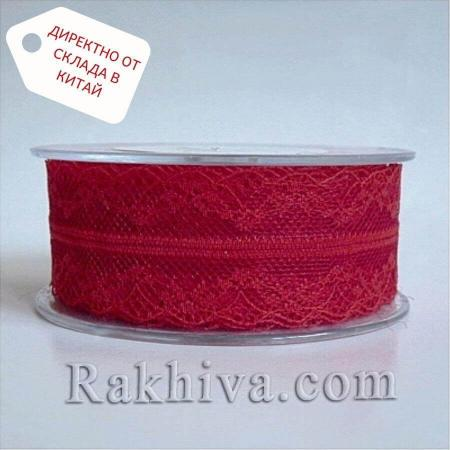 Дантела Винтидж ролка, червено ( 40/300/80)