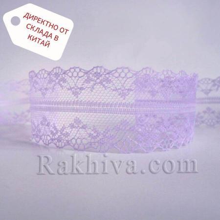 Дантела Винтидж ролка, светло лилаво ( 40/300/90)
