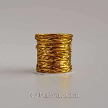 Златен шнур за бижута и декорация, злато (1мм/23м) (10/23/76200)