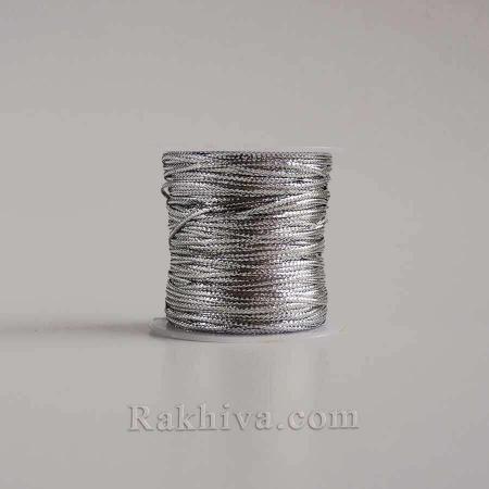 Сребърен шнур за бижута и декорация, сребро (1.00 мм/ 23м) (10/23/76300)