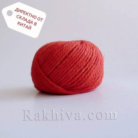 Канап, натурален шнур червено, 2 мм/ 25 м ( червено)