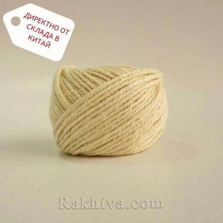 Канап, натурален шнур бяло, 2 мм/ 25 м (бяло)