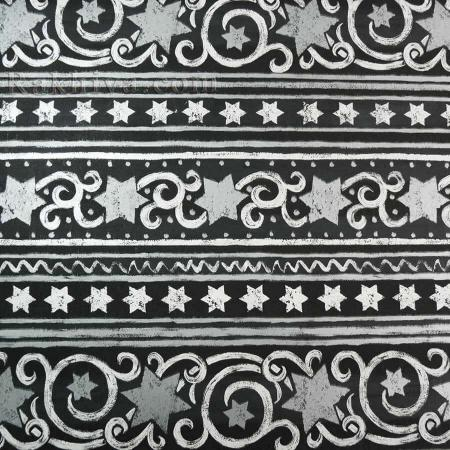 Италианска коледна хартия  Звезда, 70 см/ 100 см, черно (70/100/2)