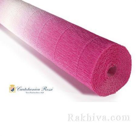 Луксозна крепирана хартия (Италия Cartotecnica rossi), 600/1 наситено розово