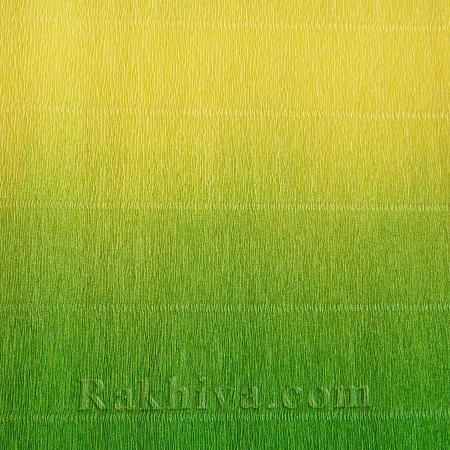 Луксозна крепирана хартия (Италия Cartotecnica rossi), 600/5 резеда, жълто