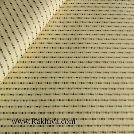 Целофан за опаковане Точки, с. точки екрю/злато (70/100/2212-20)