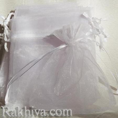 Торбички от органза бяло, 5 см /7 см (5/7/8210-1) над 1000 броя