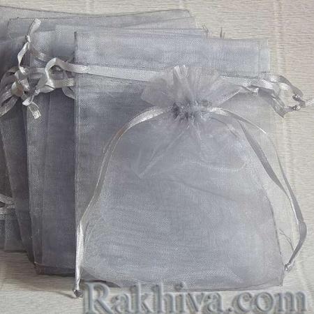 Торбички от органза сребро, 7 см/9 см (7/9/82300) над 1000 броя