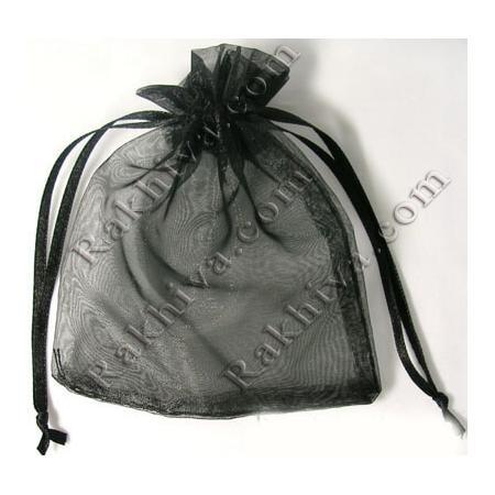 Торбички от органза черно, 7 см/9 см (7/9/8220) над 1000 броя