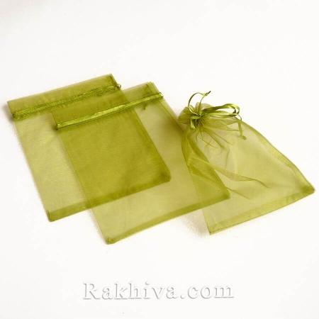 Торбички от органза войнишко зелено, 10 см/12 см (10/12/8264) над 700 броя