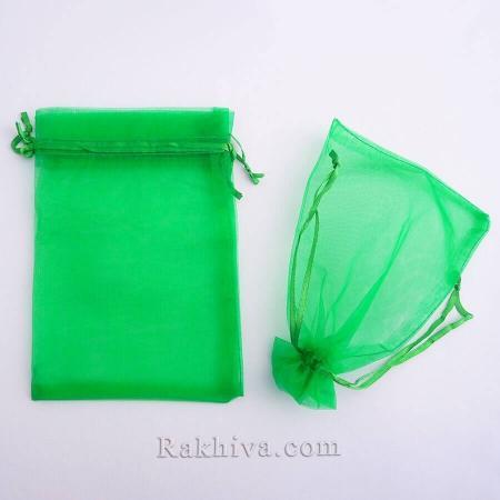 Торбички от органза тревисто зелено, 10 см/12 см (10/12/8265) над 700 броя