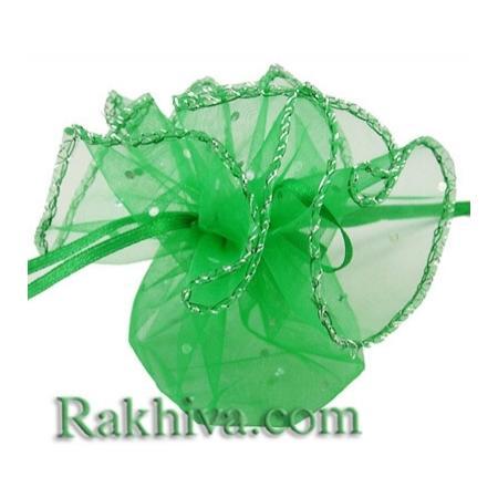 Торбички от органза кръг зелено, 26 см (26/8265) над 600 броя