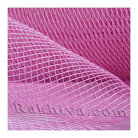 Мрежа за цветя 'Слънчеви лъчи' с двойна нишка (Корея) на кашон, ЕДРО 9 ярда св. розово/циклама (41/40-45) над 20 броя