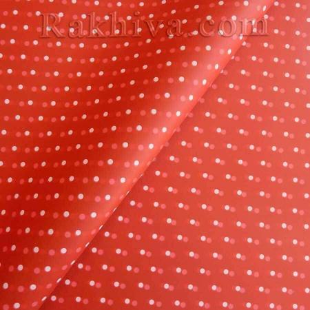 Целофан за опаковане на пакет, С. точки червено, бяло (70/100/2280-10) над 50 листа