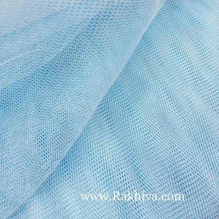 Сватбен тюл на топ, светло синьо (84/52) над 50 л.м