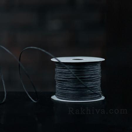 Хартиен шнур с тел на кашон, ЕДРО черно (2/50/6120) над 24 броя