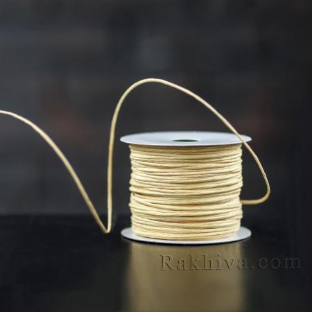 Хартиен шнур с тел на кашон, ЕДРО натурал (2/50/6130) над 24 броя