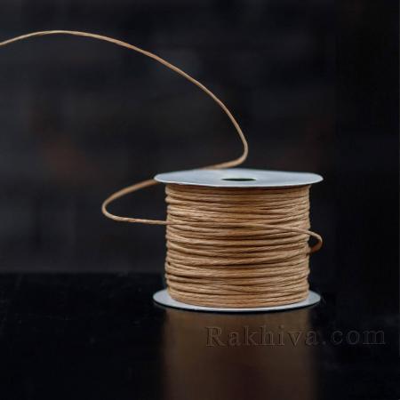 Хартиен шнур с тел на кашон, ЕДРО св. кафяво (2/50/6133) над 24 броя