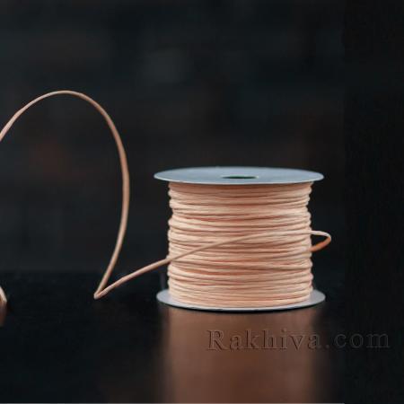 Хартиен шнур с тел на кашон, ЕДРО праскова (2/50/6148) над 24 броя