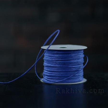 Хартиен шнур с тел на кашон, ЕДРО тъмно синьо (2/50/6155) над 24 броя