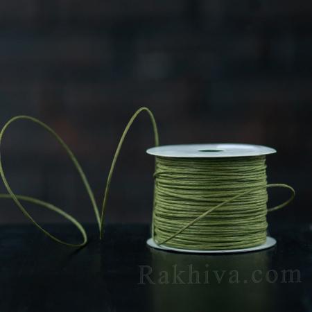 Хартиен шнур с тел на кашон, ЕДРО маслина (2/50/6163) над 24 броя