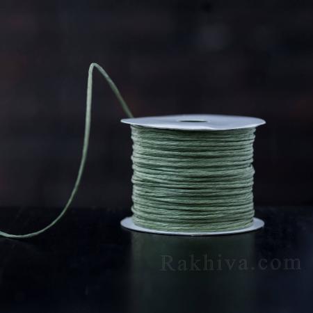 Хартиен шнур с тел на кашон, ЕДРО в. зелено (2/50/6164) над 24 броя