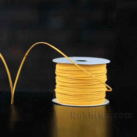 Хартиен шнур с тел на кашон, ЕДРО патешко жълто (2/50/6172) над 24 броя