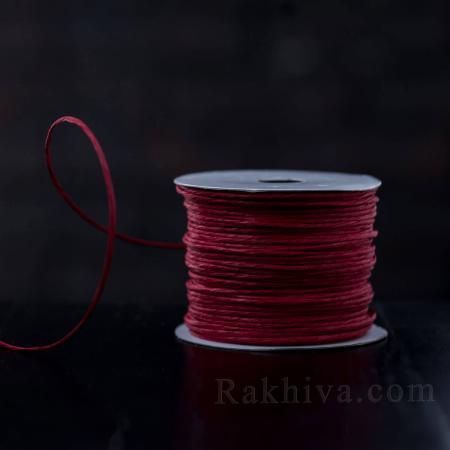 Хартиен шнур с тел на кашон, ЕДРО червено (2/50/6180) над 24 броя