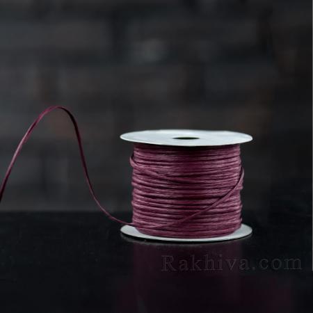 Хартиен шнур с тел на кашон, ЕДРО бордо (2/50/6186) над 24 броя