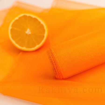 Органза оранжево, ролка, цена на едро