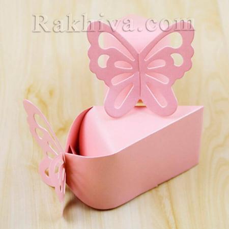 Кутийка парче от торта, розово парченце 1 бр. , 10,5x6x6,5 см