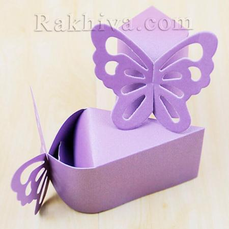 Кутийка парче от торта, лилаво парченце 1 бр. , 10,5x6x6,5 см