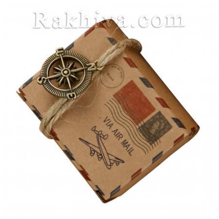 Кутийка пощенска марка с канап, пощенска марка с канап 1 бр, 6x4,5x3,5 см