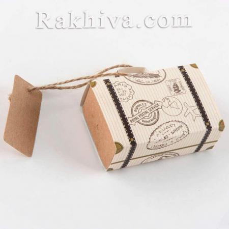 Кутийка куфар с етикет, куфар с етикет 1 бр., 7,5x5x2,5 см