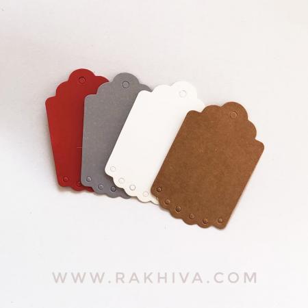 Хартиени етикети с дантела, 4,5x7 см (10 бр.) , бяло