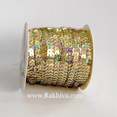 Златни пайети с лазерно покритие