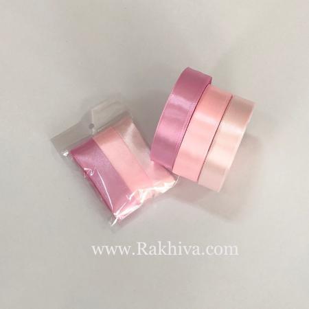 Крафт розов сатен комплект, розов комплект сатен