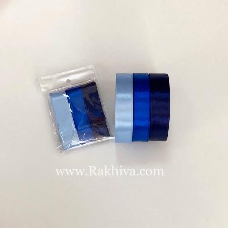 Крафт синьо сатен комплект, синьо комплект сатен