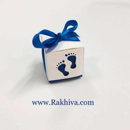 Малки кутийки за подаръчета, кутийка бебе синьо 1 бр, 60х60х60